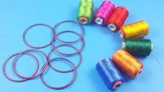 Ganeash Chaturthi Special Toran from Waste Bangles - पुरानी चूड़ियों और रेशम से बनायें  ये आसान तोरन