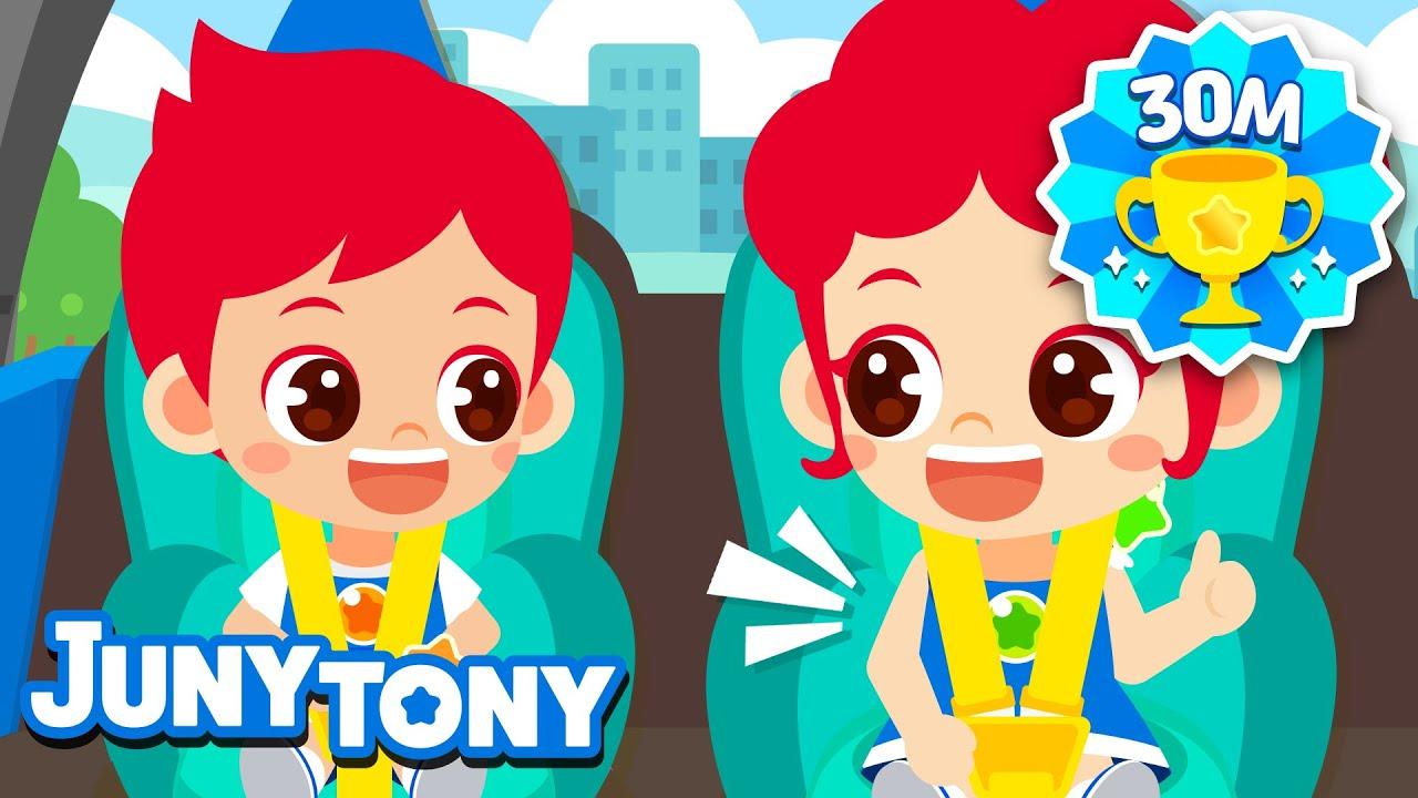 Download Let's Buckle Up | Car Safety for Kids | Seat Belt Song | Good Habits | Kindergarten Song | JunyTony