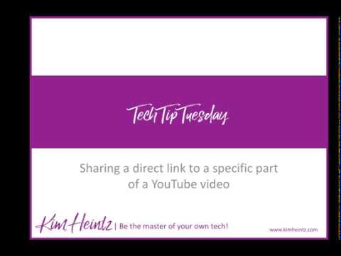 Sharing a direct link to a specific part of a YouTube Video