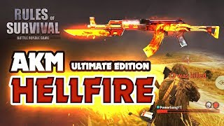 HELLFIRE AKM RIFLE is a MONSTER! (Rules of Survival)