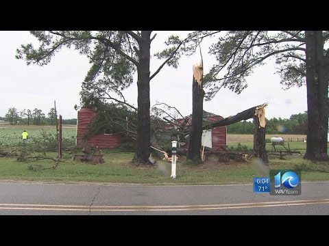 NWS confirms tornado touched down in Chowan County