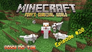 Minecraft Survival - How to Tame Wolves into Pet Dogs [20]