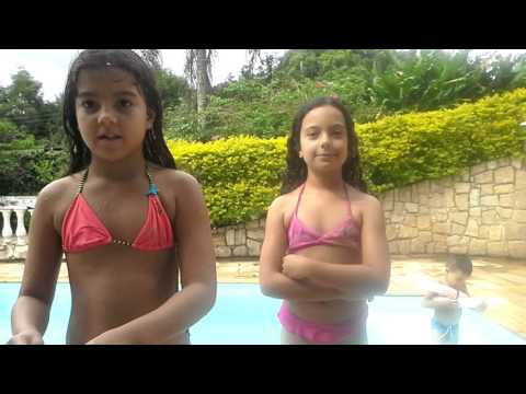 Desafio da piscina com a Ana Clara