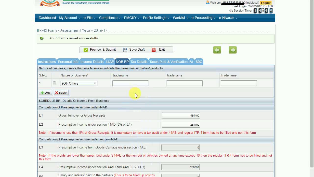 how to file income tax return online pdf