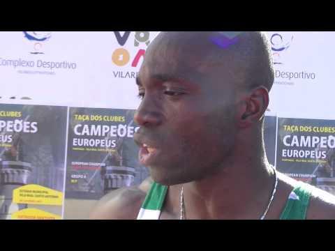 Atletismo :: Francis Obikwelu, vencedor dos 100m na Taça dos Campeões em Pista, disputado em 2011