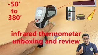 Hindi || infrared thermometer unboxing and review