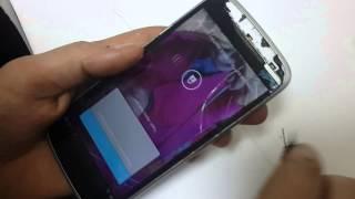 Как быстро снять сенсор с телефона Fly IQ4410?