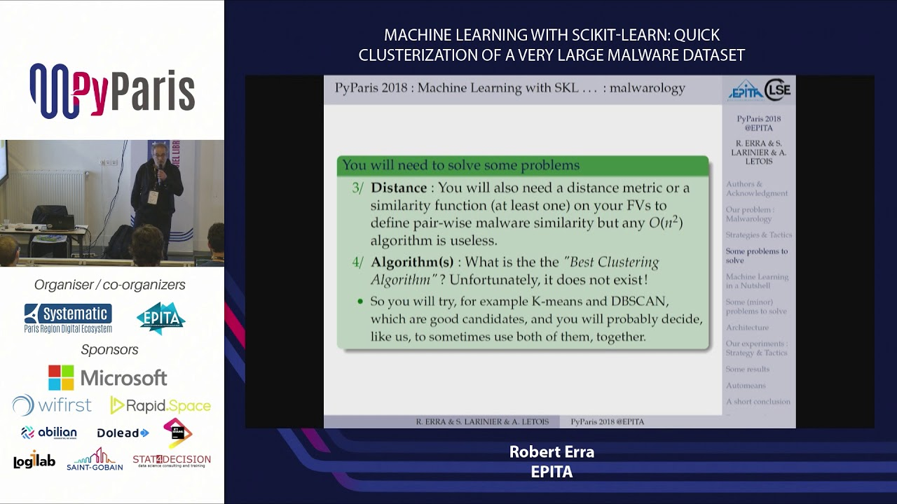 Image from Machine Learning with Scikit-Learn: quick clusterization of a very large malware dataset