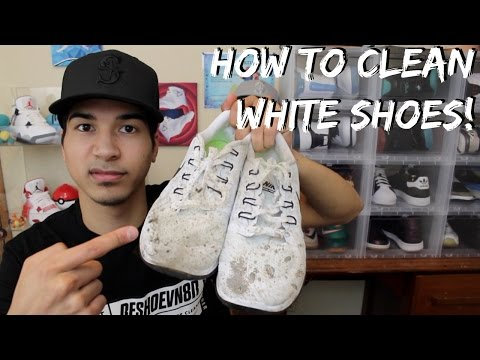 How to Clean Dirt Off White Shoes! Using @Reshoevn8r