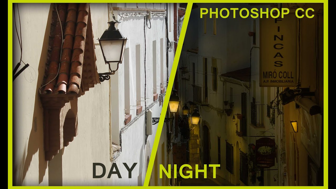 Turn Day Light Into Night Light: Photo Manipulation: Photoshop & Camera Raw: Photo Editing