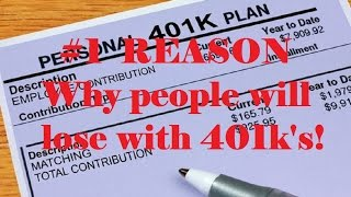 why people will lose with 401ks - 401k vs do it yourself investing