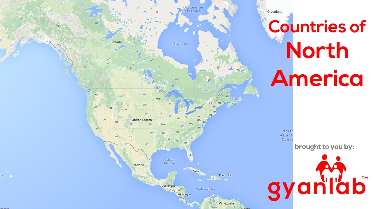 Countries in North America Geography GyanLab YouTube