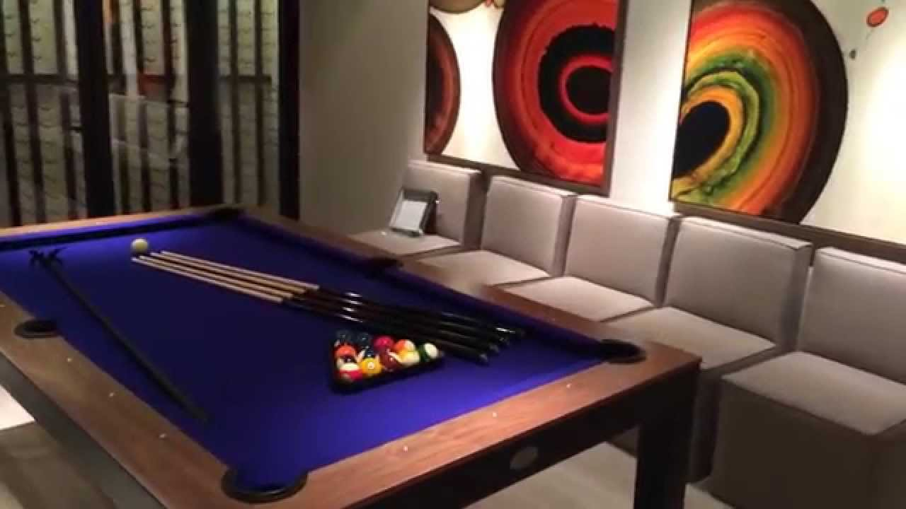 Fusion Contemporary Pool Table Black YouTube - Black modern pool table