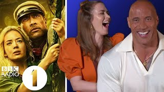 """Tight balls!"" Dwayne 'The Rock' Johnson, Emily Blunt & Jack Whitehall on Jungle Cruise nicknames"