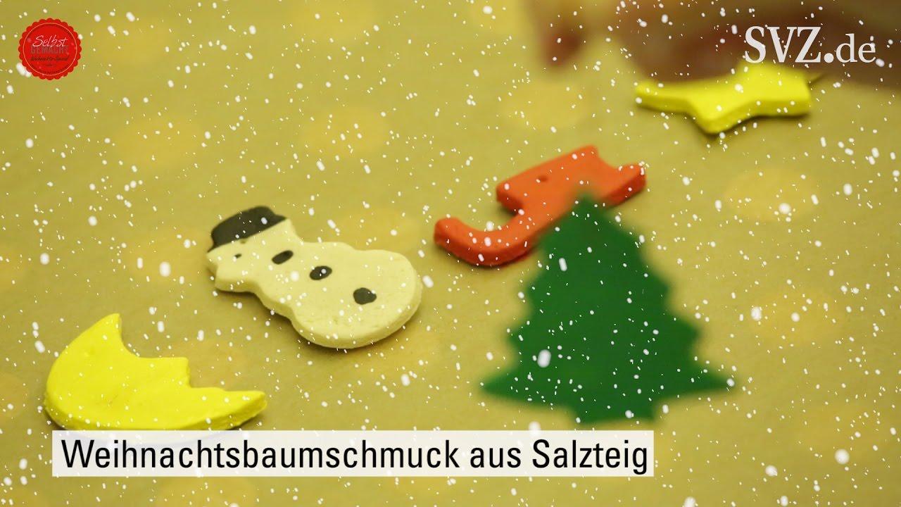 Selbst Gemacht Weihnachtsbaumschmuck Aus Salzteig Youtube