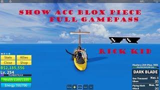 Roblox Mostrar Acc Rick Kid Full Game Pass Blox Piece Pieza Blox