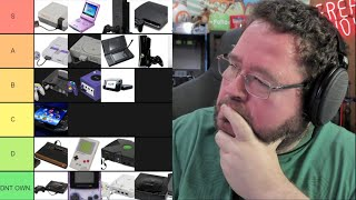 GAMING CONSOLES RANKED! Tier List Of Every Gaming Console I Ever Owned!