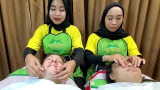 $5 FALL ASLEEP CHEAP FACE MASSAGE (Totok Waja) 🇮🇩 Jakarta Indonesia 4K