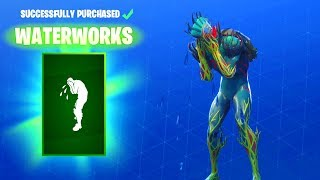 FORTNITE V BUCKS SPENDING SPREE NEW WATERWORKS EMOTE ON ALL MY OUTFITS