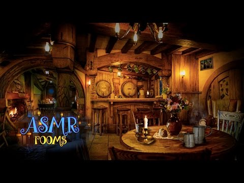 Lord Of The Rings Inspired ASMR - The Green Dragon Inn - Medieval Tavern Ambience And Animations