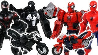 Marvel Spider Man, Black Spider Man Transformers! Protect Cars 3 from crocodile, spider - DuDuPopTOY
