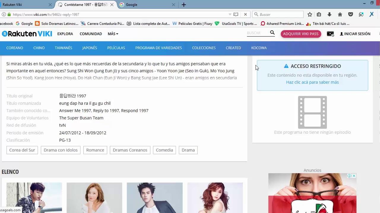 Viki Premium Sin restricciones Doramas asiaticos Full 2018