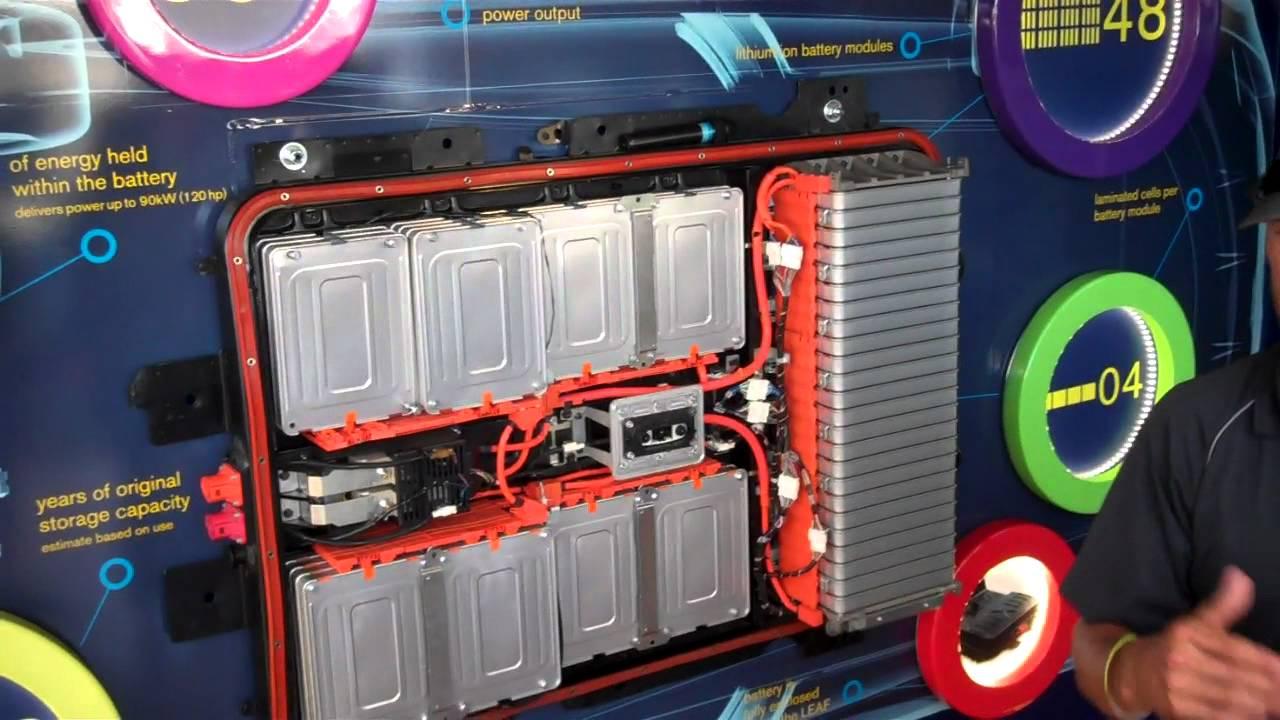 Alt Car Expo Nissan Leaf Battery Pack Explained Youtube