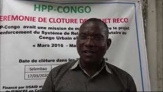 Clôture du projet RECO: parole au président de Comité Communal de Développement de Selembao.