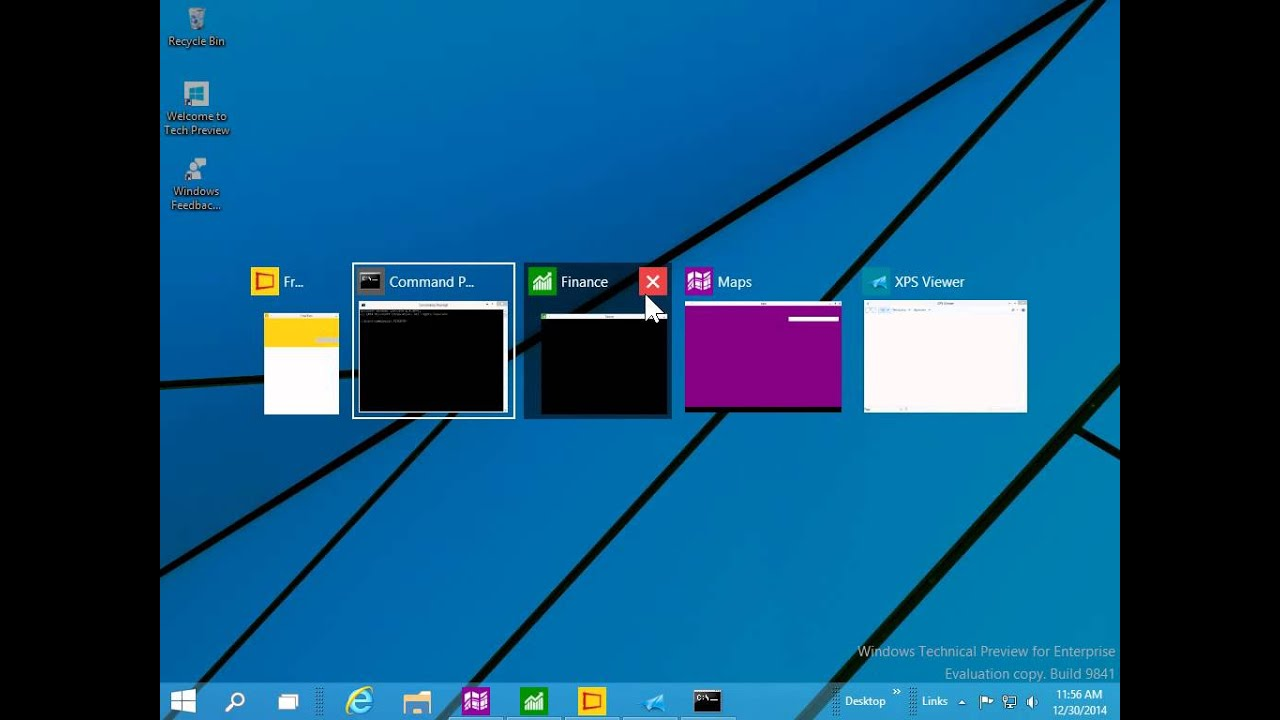 Windows 10 How to View all open programs and apps