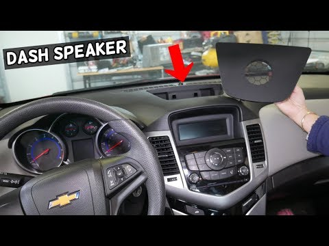 CHEVROLET CRUZE CENTER DASH SPEAKER REPLACEMENT REMOVAL. CHEVY CRUZE