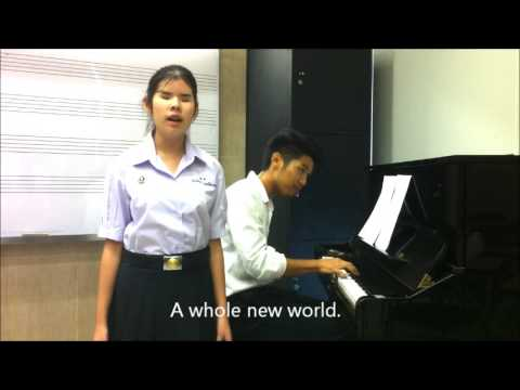 Amazing girl ! A whole new world ed Napat with Pattanan Fa