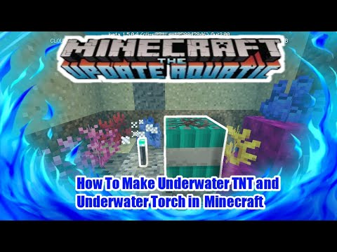 How To Make Underwater Tnt And Underwater Torch In Minecraft Education Edition Youtube