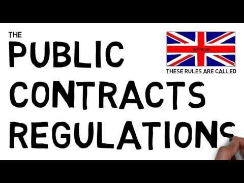 What are the Public Contracts Regulations?