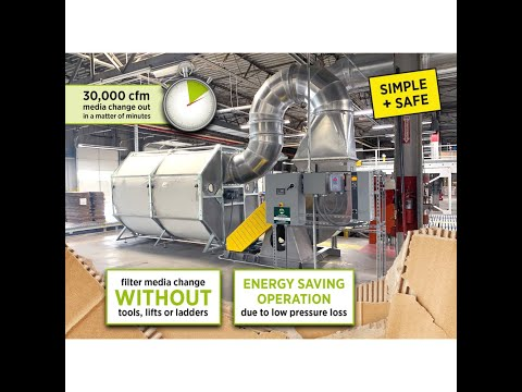 Scrap and Paper Trim Collection Dust Control System by Engin