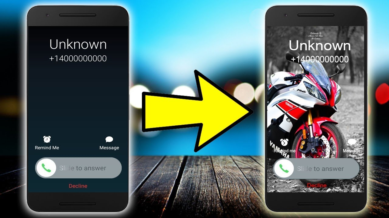 How To Change Call SCREEN Background in ANY Android Device