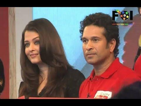 Sachin Tendulkar And Aishwarya Rai At Support My School Initiative