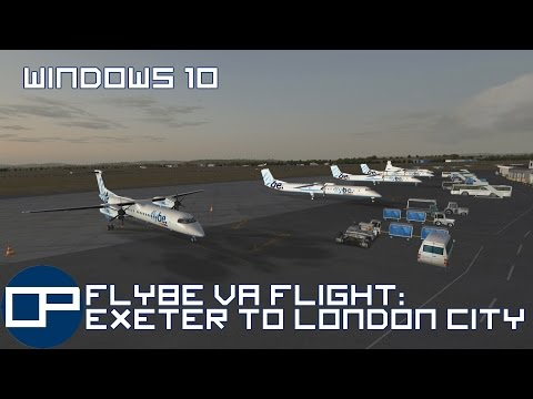 FSX in windows 10 | Majestic Dash 8 | Exeter to London City | Part 1: Pre-flight