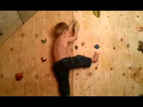 3 year old rock climber by shaun butts