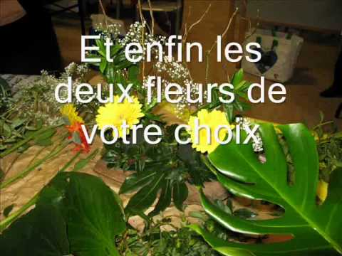 Comment r ussir une composition florale youtube - Composition florale noel originale ...