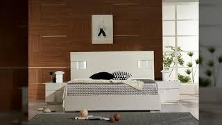 미오 / 하이그로시 우드 침대 프레임 - K/KK 사이…