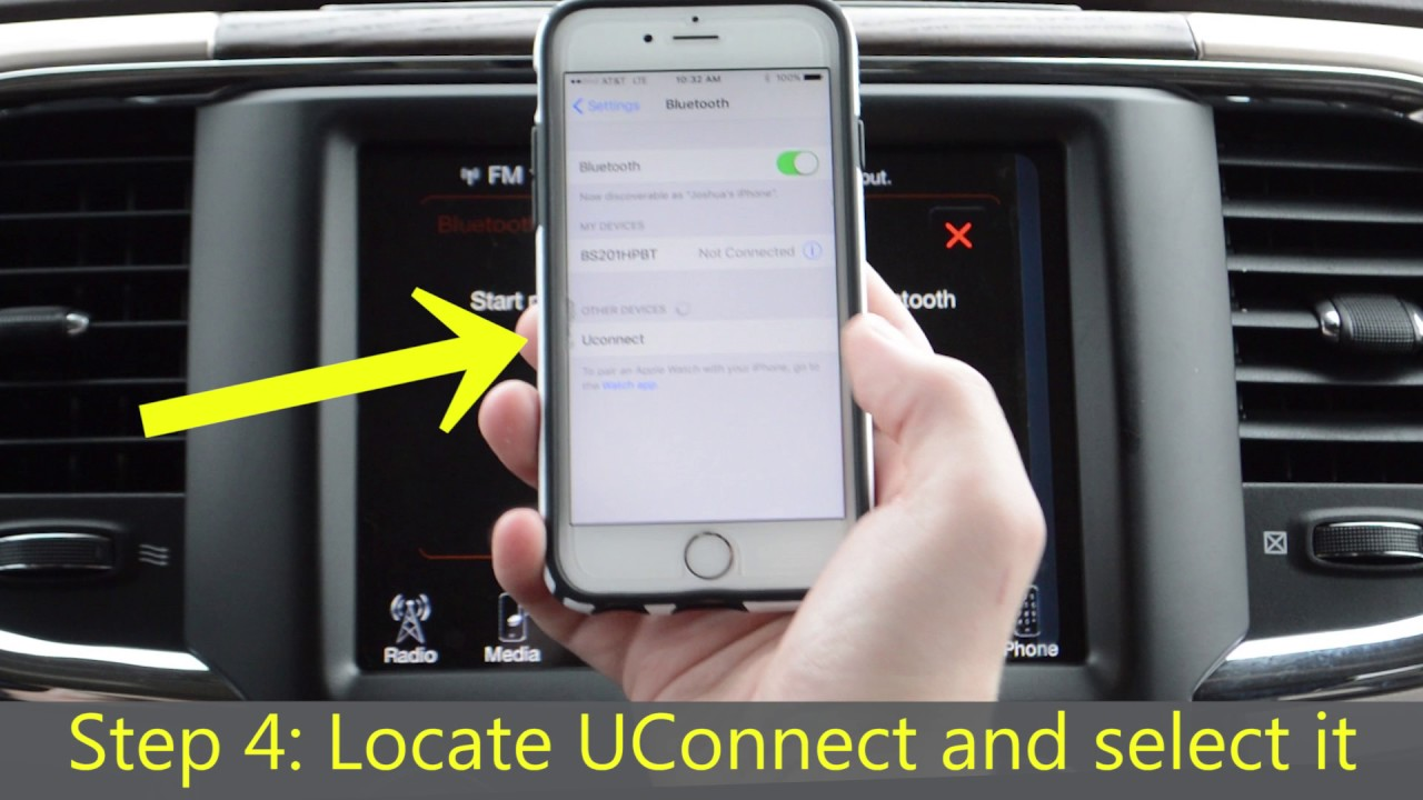 U Connect Phone >> How To Pair Phone To Uconnect Chrysler Jeep Dodge Ram