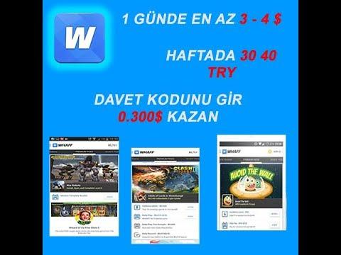 WHAFF İLE 1 GÜNDE 4 $ KAZAN  MONEY WINNING ON A DAY