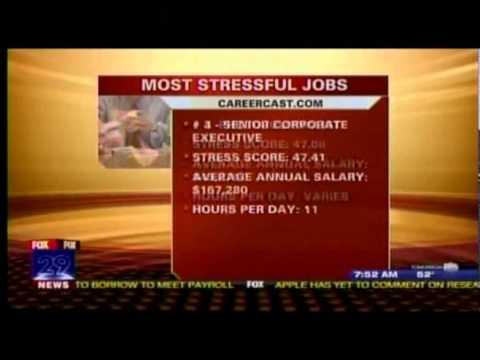 WTXF FOX 29 TV: Most Stressful Jobs 2011 Careercast list
