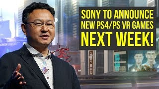 Sony To Announce NEW PS4 / PS VR GAMES NEXT WEEK + New Gameplay! (Tokyo Game Show 2017 - TGS 2017)