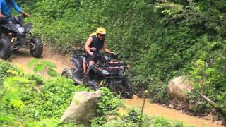 ATV and water rafting at krabi thailand