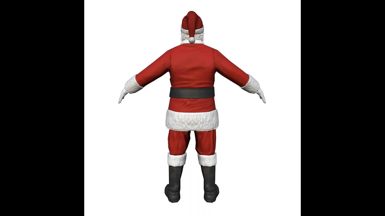 santa claus 3d model from cgtrader com youtube