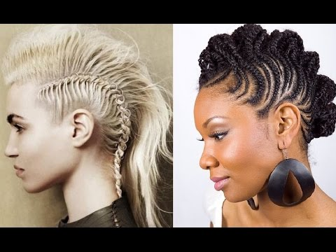 Braided Mohawk Hairstyles - YouTube