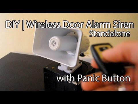 DIY | Simple 120db Wireless Door Alarm Siren (Or Panic Button) with Backup Power