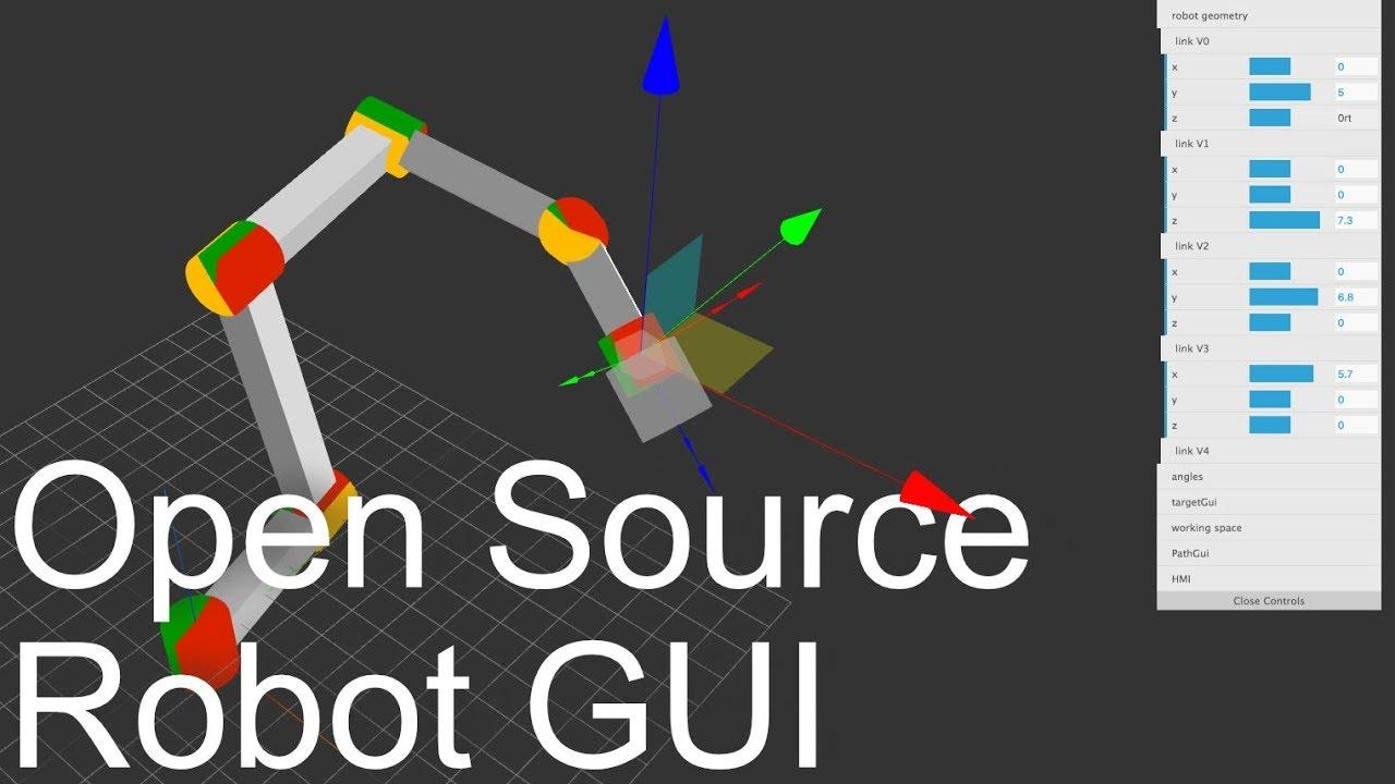 Browser-Based Three js Robot HMI GUI - available on GitHub 🚀