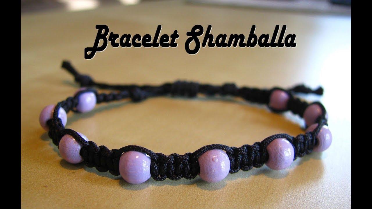 bracelet shamballa macram facile avec perles youtube. Black Bedroom Furniture Sets. Home Design Ideas